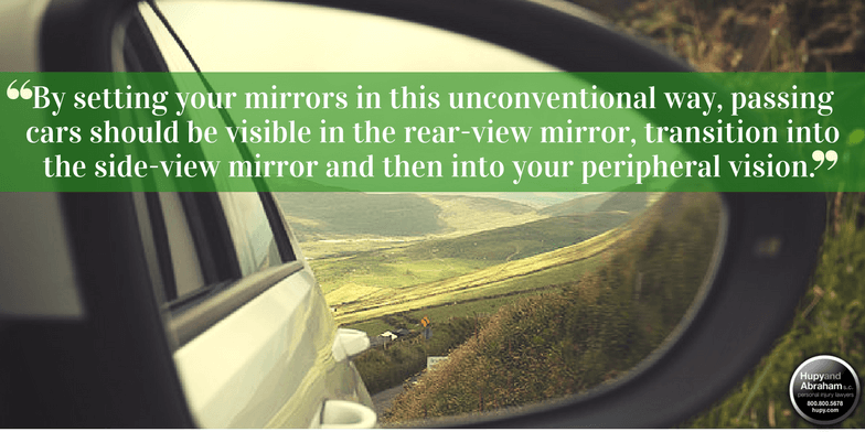the mirror technique to avoid blind spots