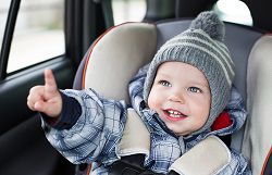 Use the proper car seat for your child's age and size