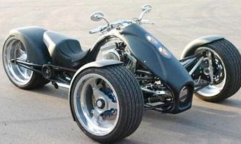 Three wheeled motorcycle