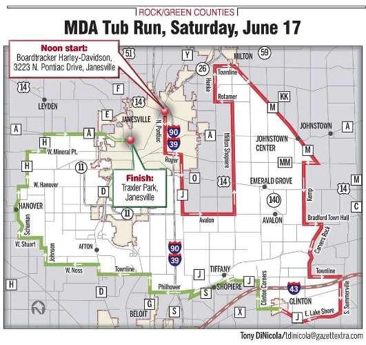 MDA Tub Rur route map