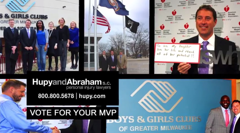 Hupy and Abraham Teams Up with FOX Sports Wisconsin to Present Local Charity Challenge