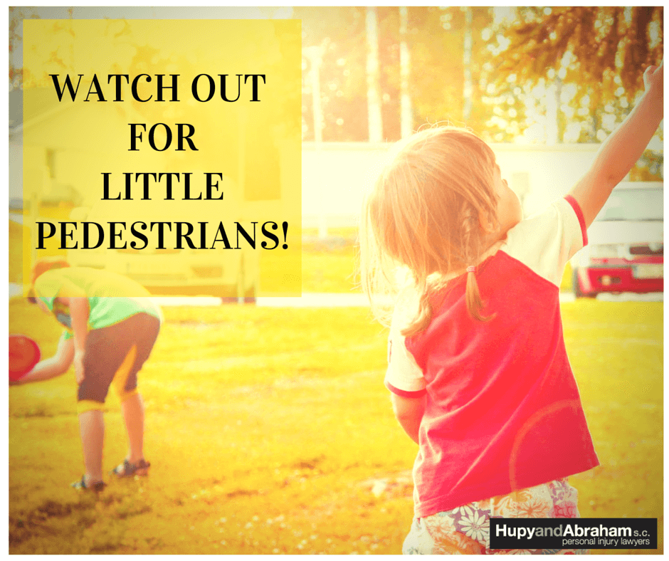 watch for little pedestrians