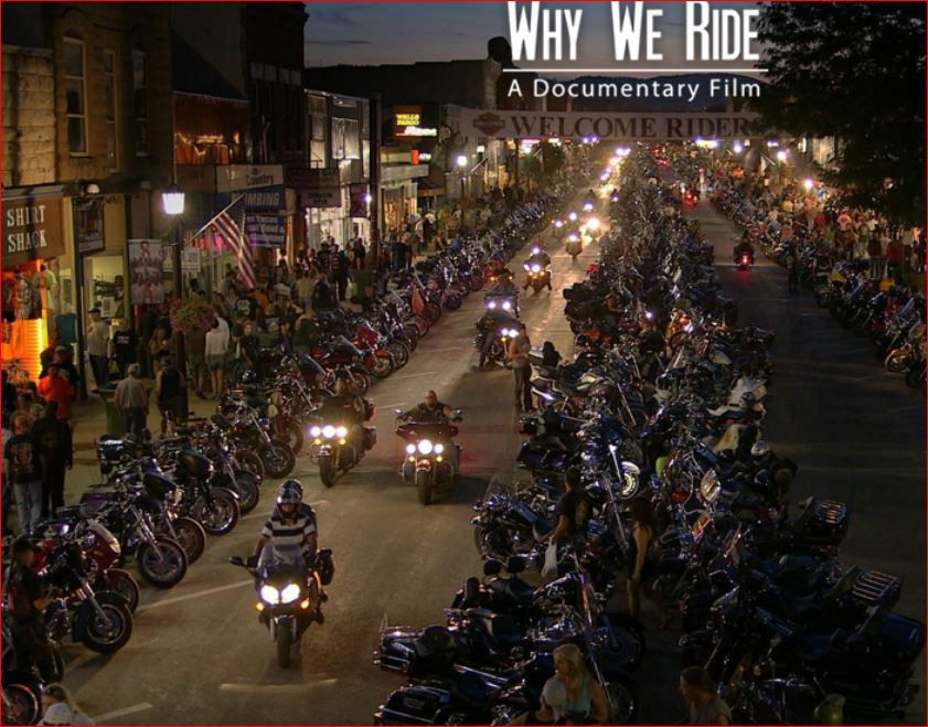 Why we ride documentary scene with hundreds of motorcycles