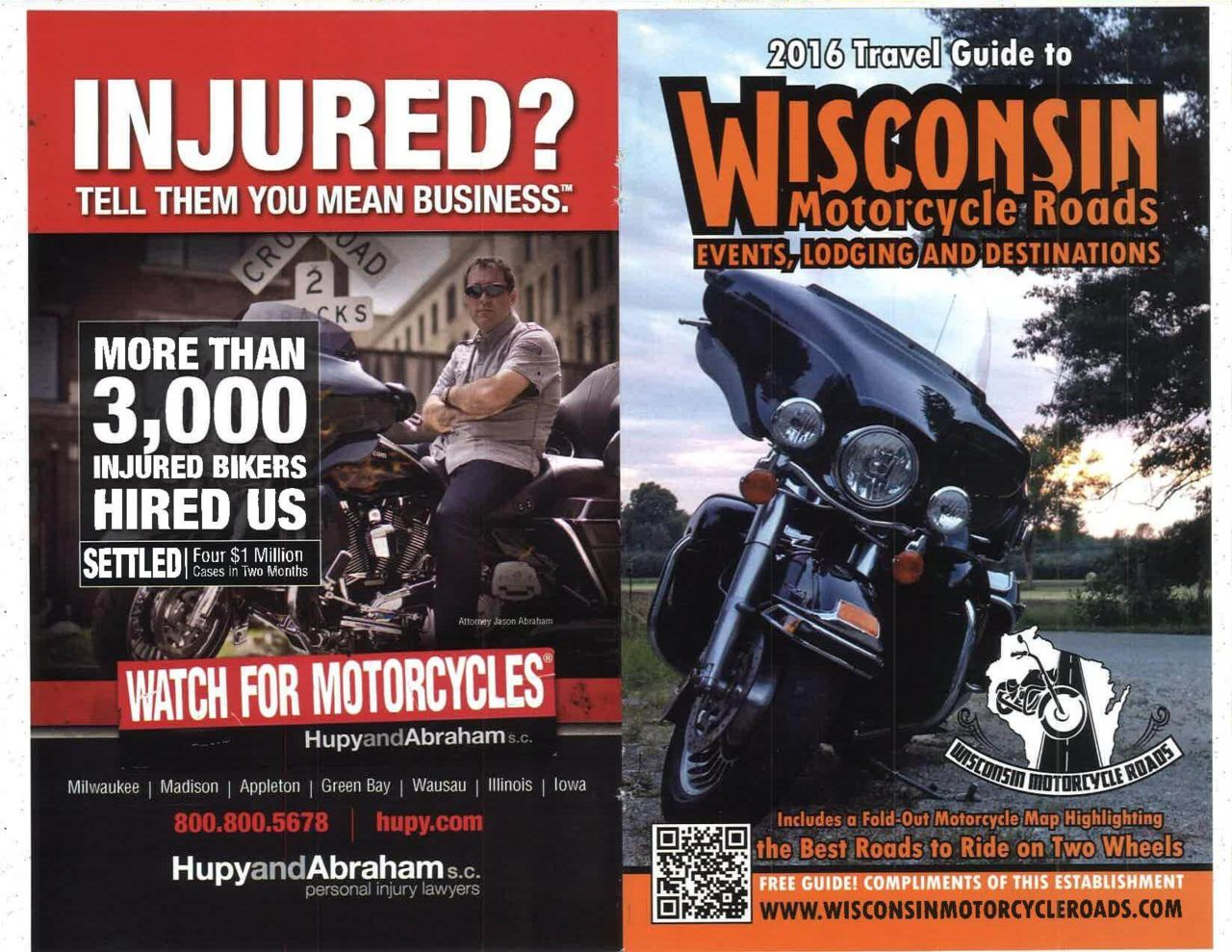 wisconsin motorcycle roads thanks hupy and abraham