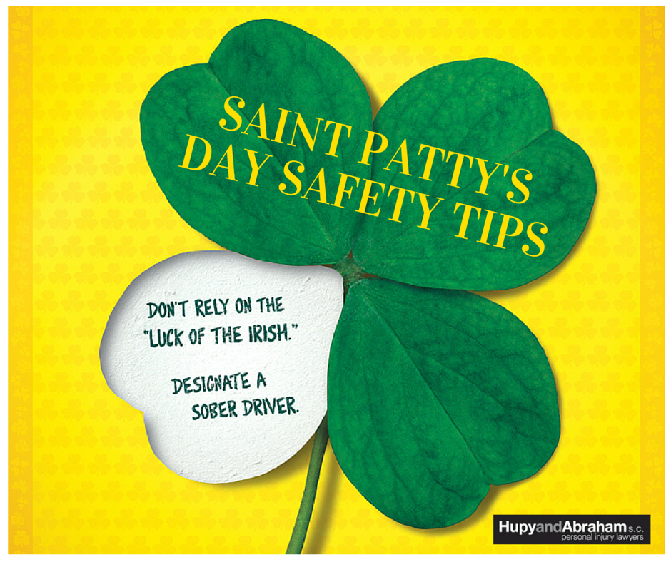 SAINT PATTY'S DAY SAFETY with clover