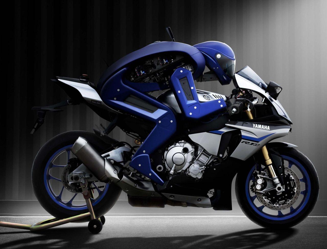 Yamaha riderless electric Motobot motorcycle