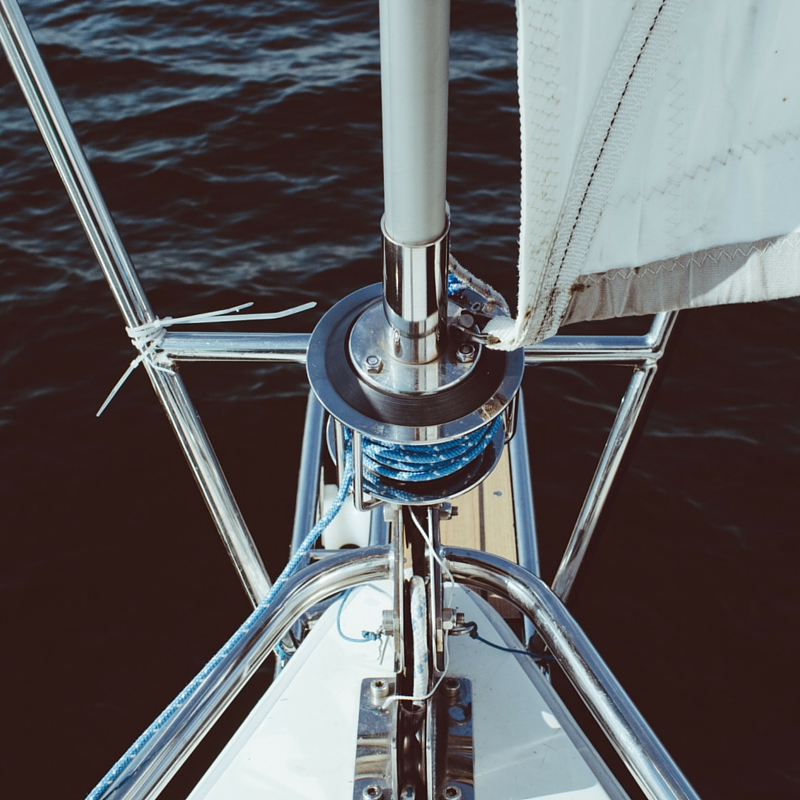 close up of sailboat