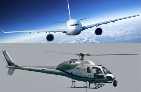 Airplanes and Helicopter crashes