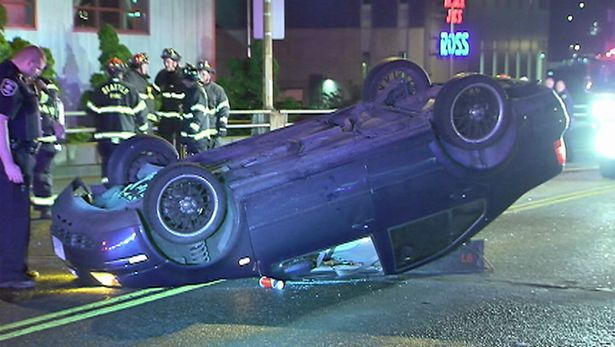 Ballard Bridge Rollover Crash
