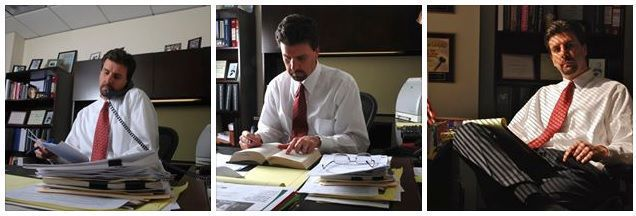 At His Desk Attorney Chris Davis