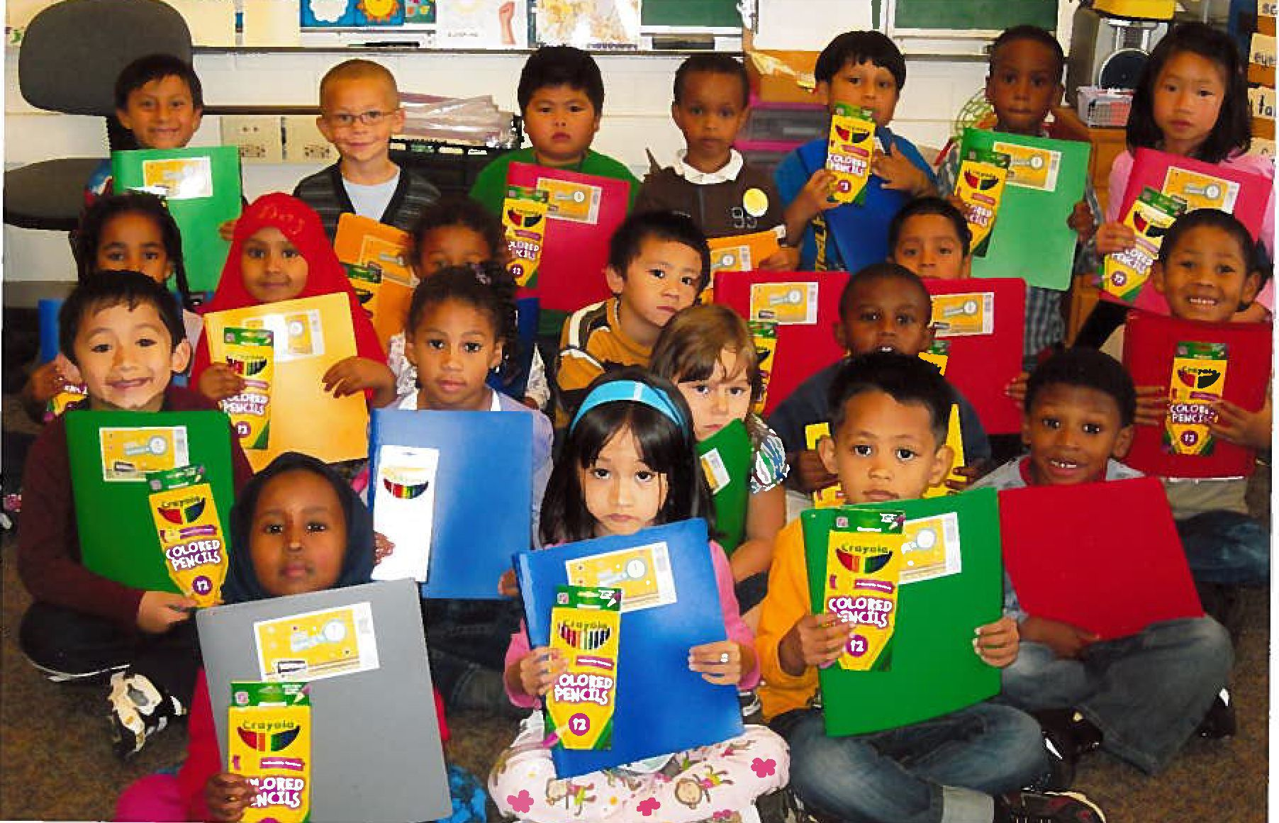 Students happy with new classroom supplies