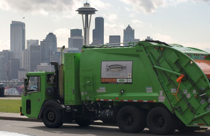 Dump truck in Seattle