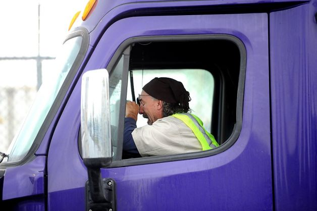 drowsy semi-truck driver