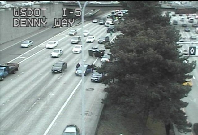seattle roll-over crash