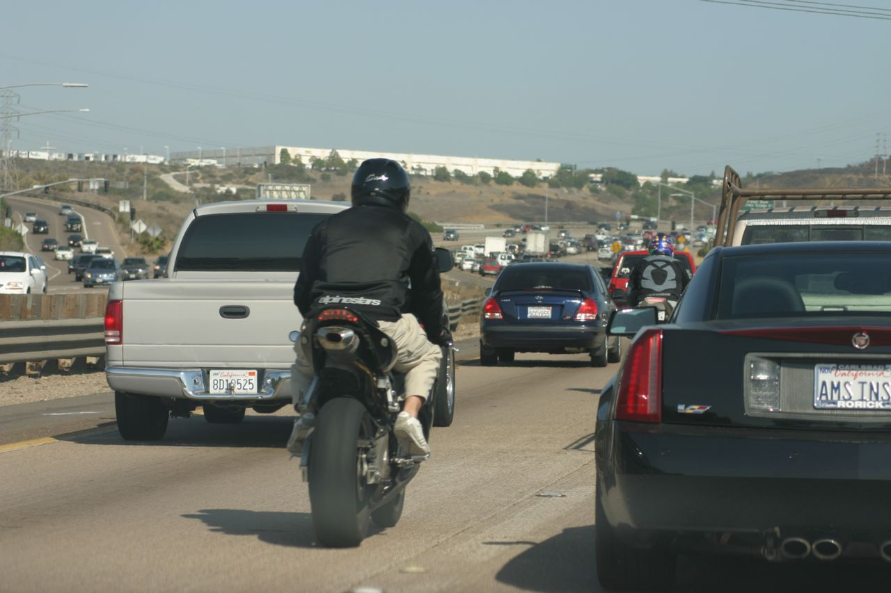 motorcycle lane-splitting