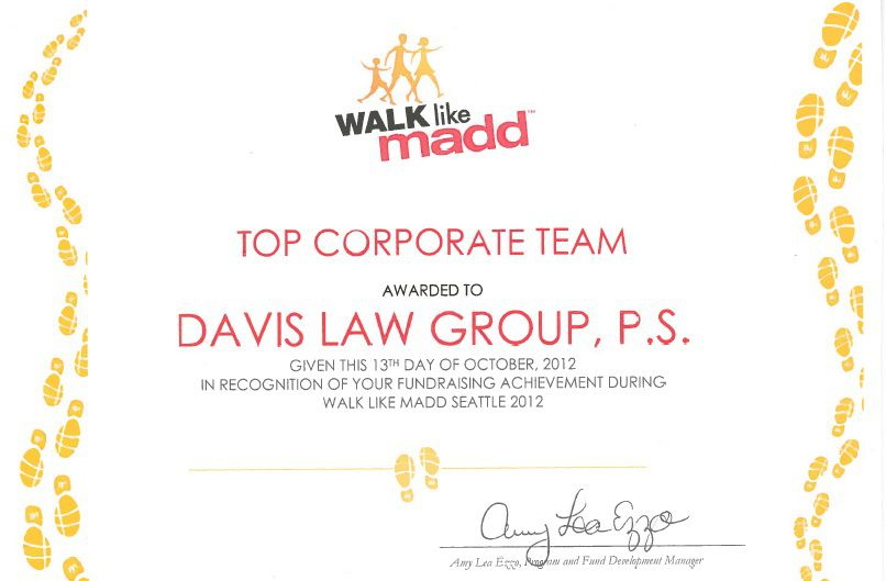 madd award washington state law firm