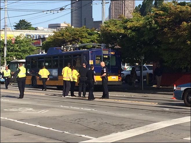 Bicyclist struck by Metro Bus, in Critical Condition