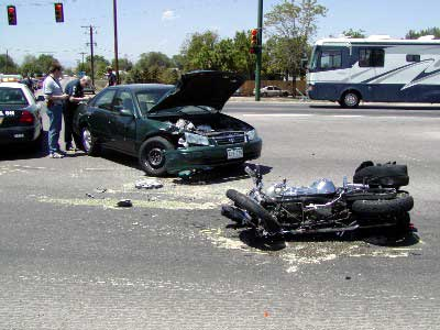 Motorcycle accident caused by DUI