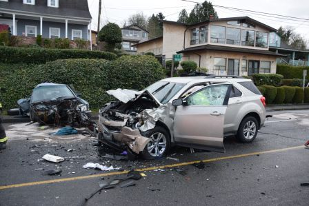 South Seattle Rainier Avenue Crash