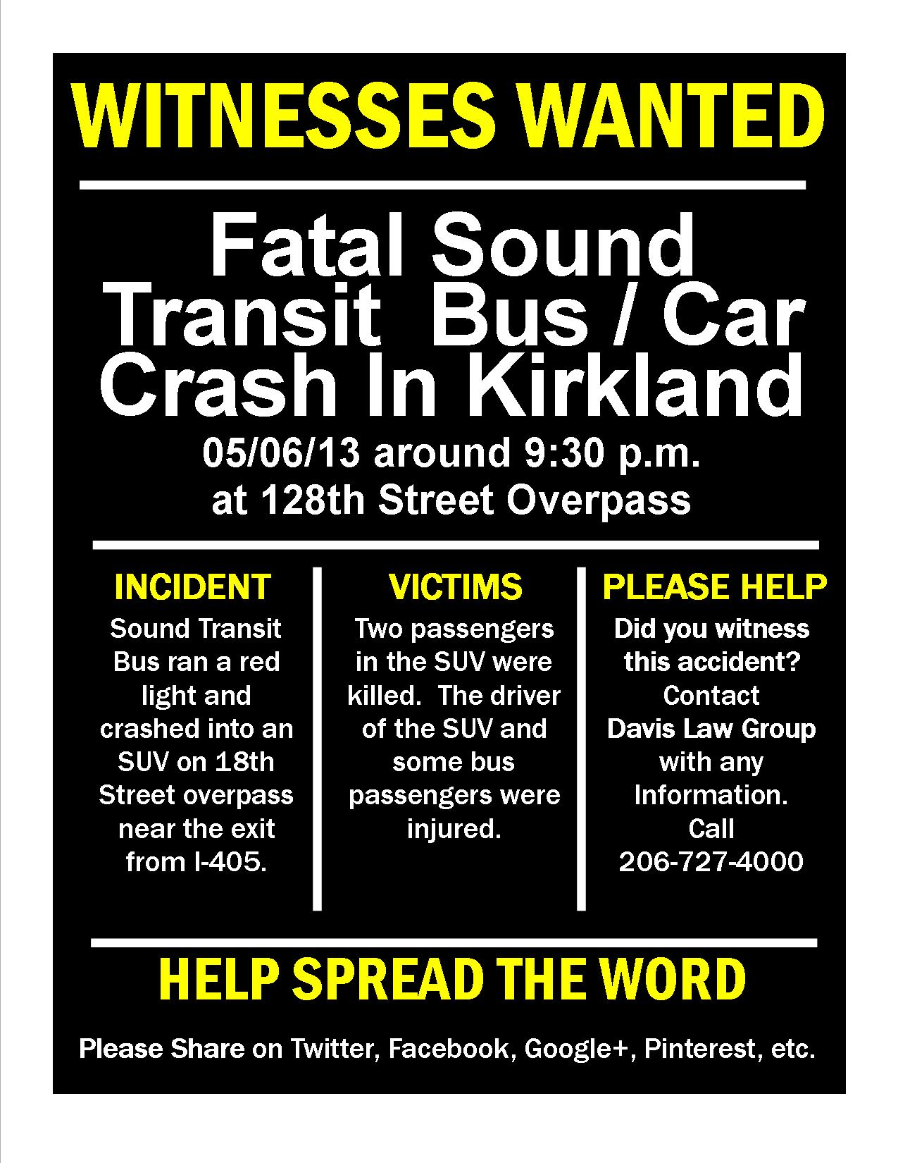Sound Transit Bus Accident