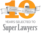 super lawyer 10 years