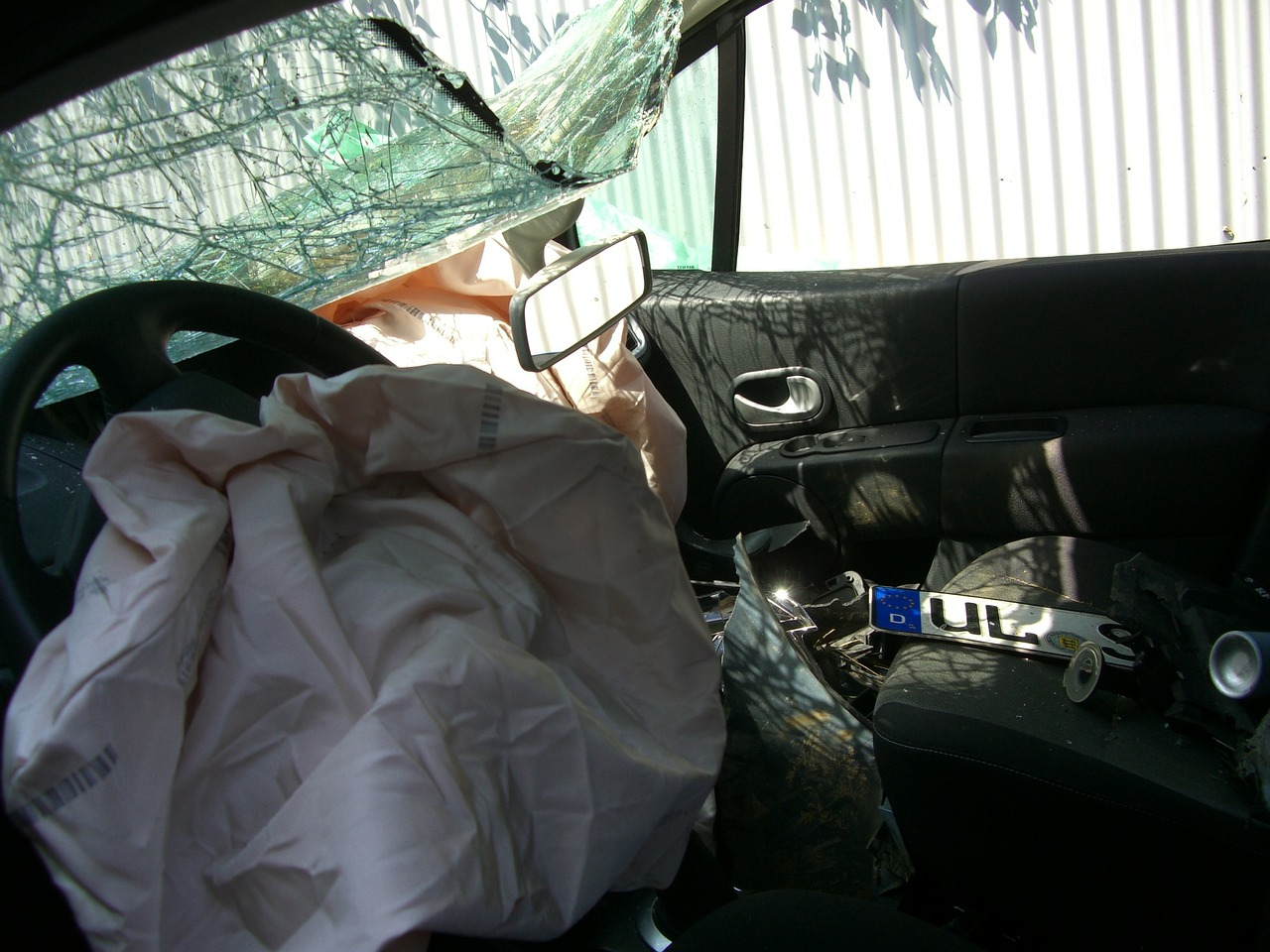 airbag explosion