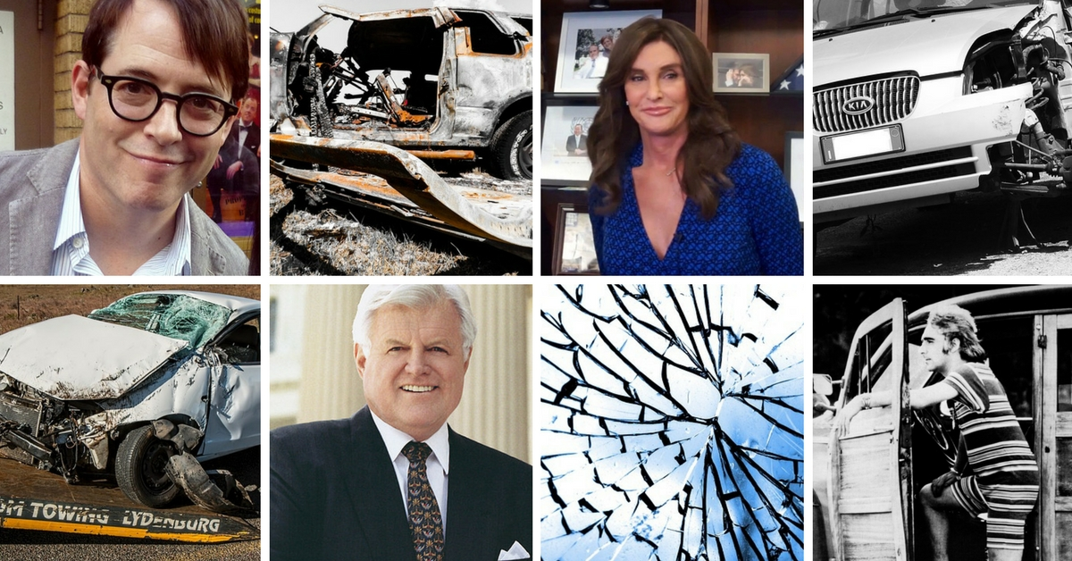 celebrity car crashes