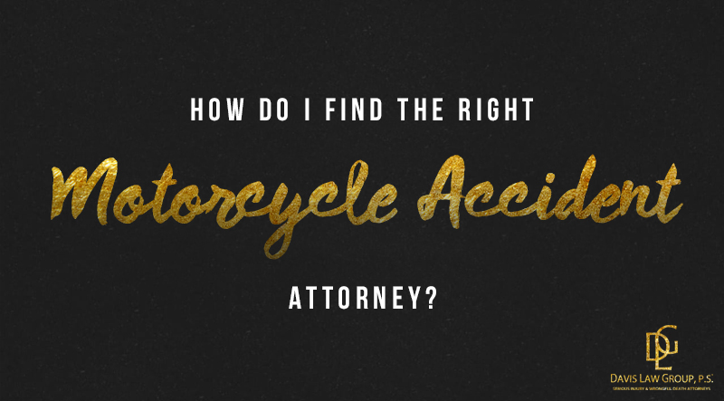 find the right motorcycle lawyer