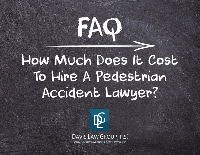 how much does it cost to hire a pedestrian lawyer