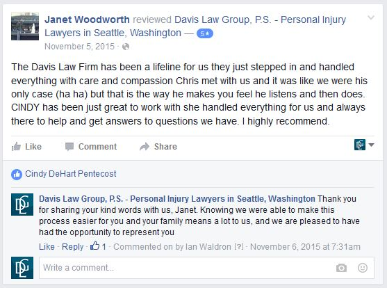Attorney Review of Seattle Lawyer Chris Davis by Janet Woodworth