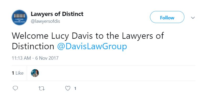 lawyers of distinction lucy davis dog