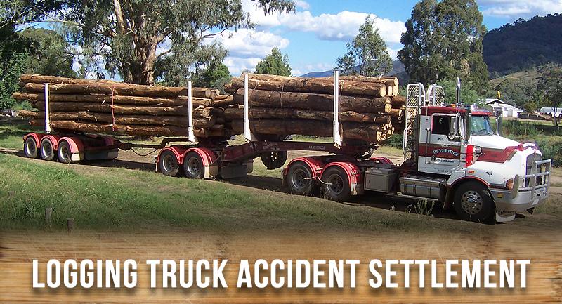 logging truck pedestrian settlement