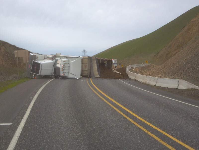 truck manure spill