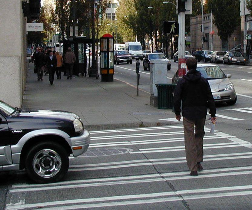 Car Crash Hits Woman In Crosswalk
