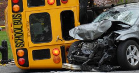 children injured in school bus accident