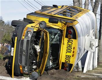 school bus roll over accident