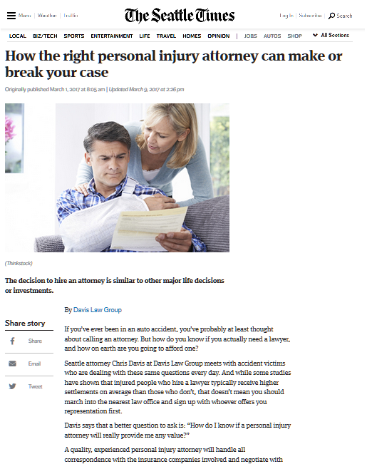 How the right personal injury attorney can make or break your case