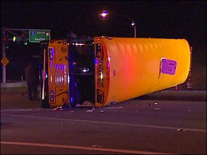 shoreline rollover bus crash