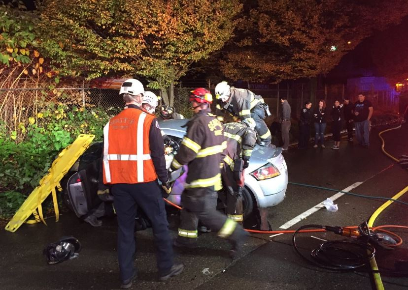 street racing crash in west seattle