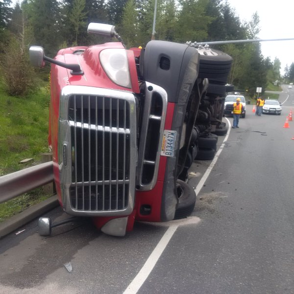 truck crash on highway