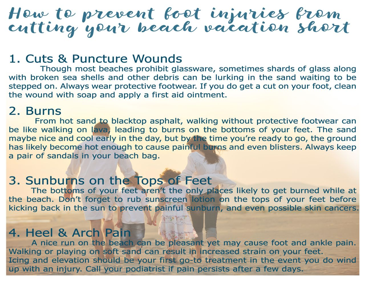 How to prevent foot injuries from cutting your beach vacation ... Four Ways To Stop Your Pain And Discomfort on