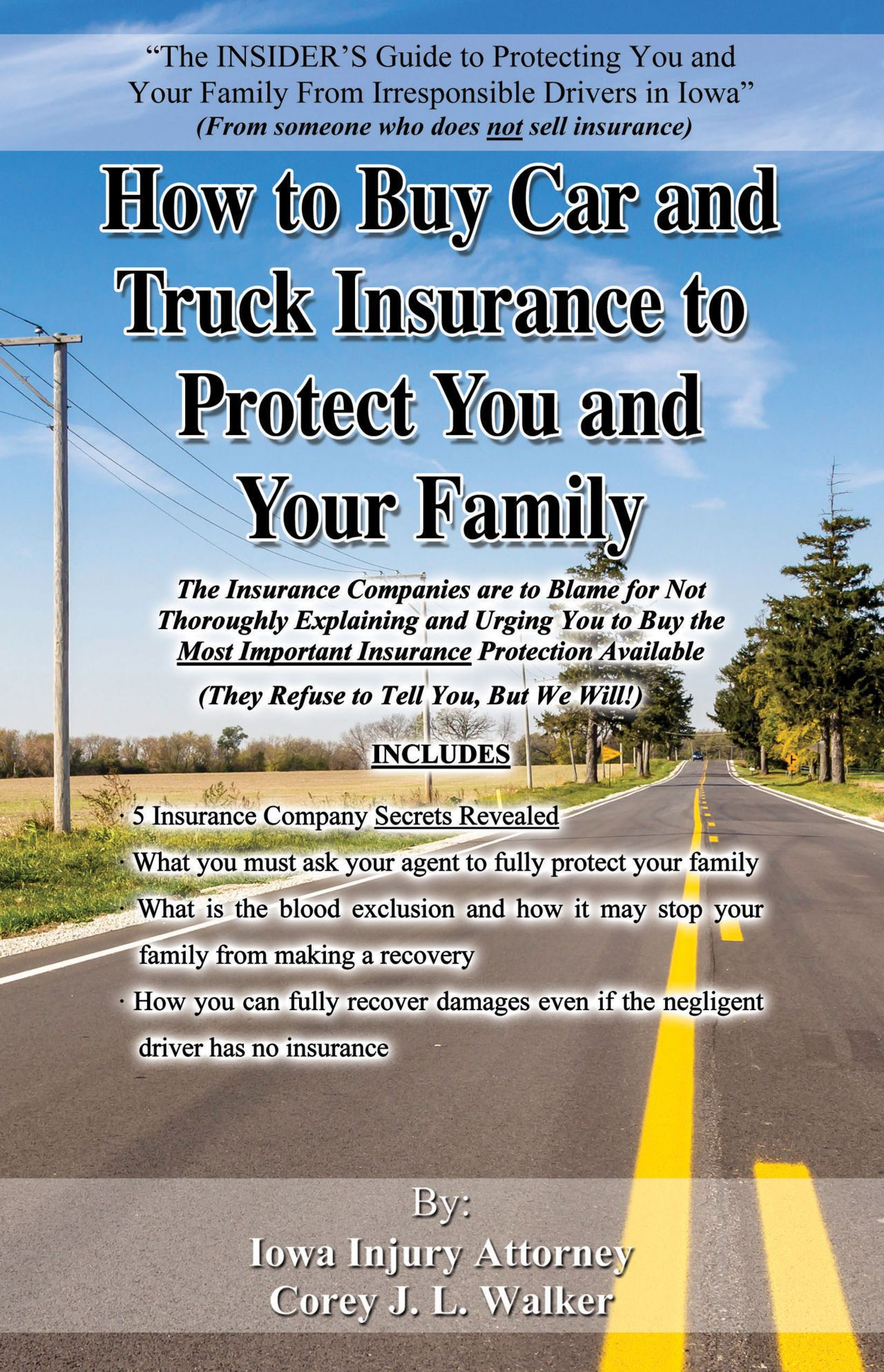 How to buy car and truck insurance book by Iowa injury attourney
