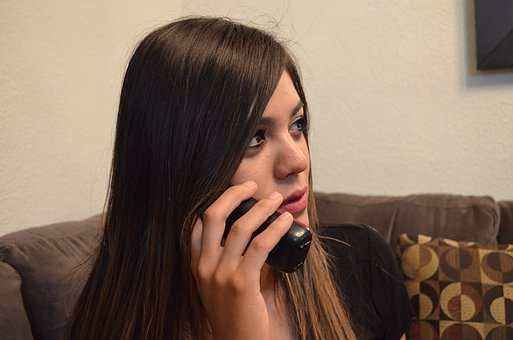 woman callin all cell phone giving statement