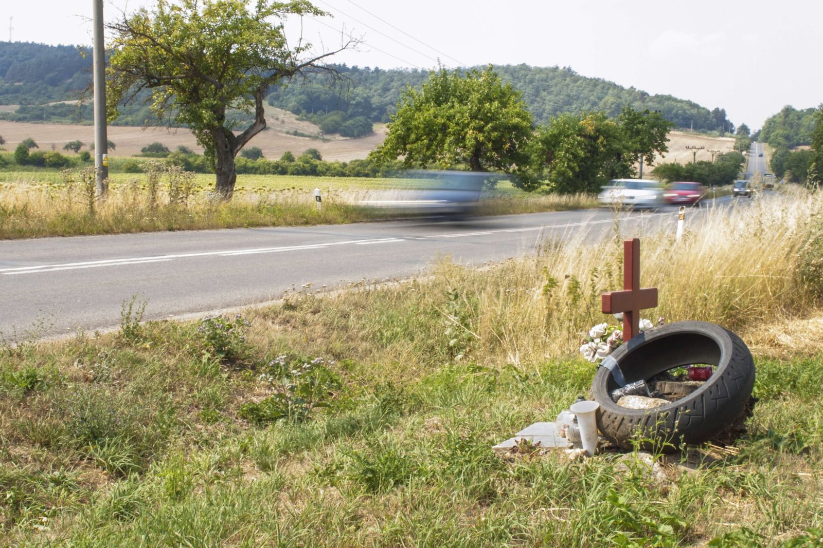 Grave on the side of the road
