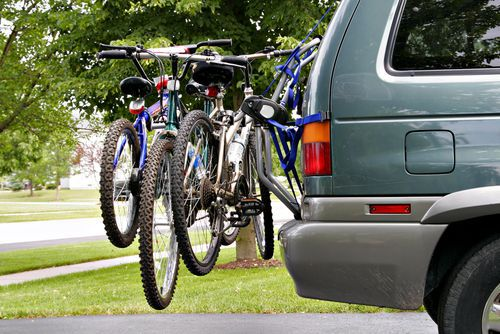 Vehicle with Bicycle Rack