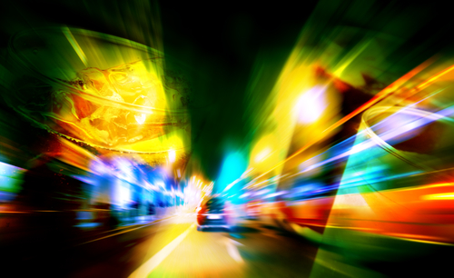 Blurred Vision Night Driving
