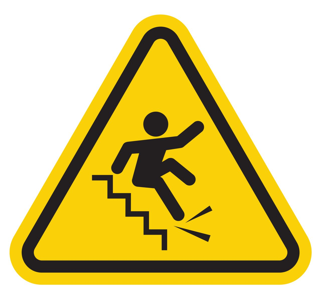Warning Sign Of Someone Falling Down The Stairs