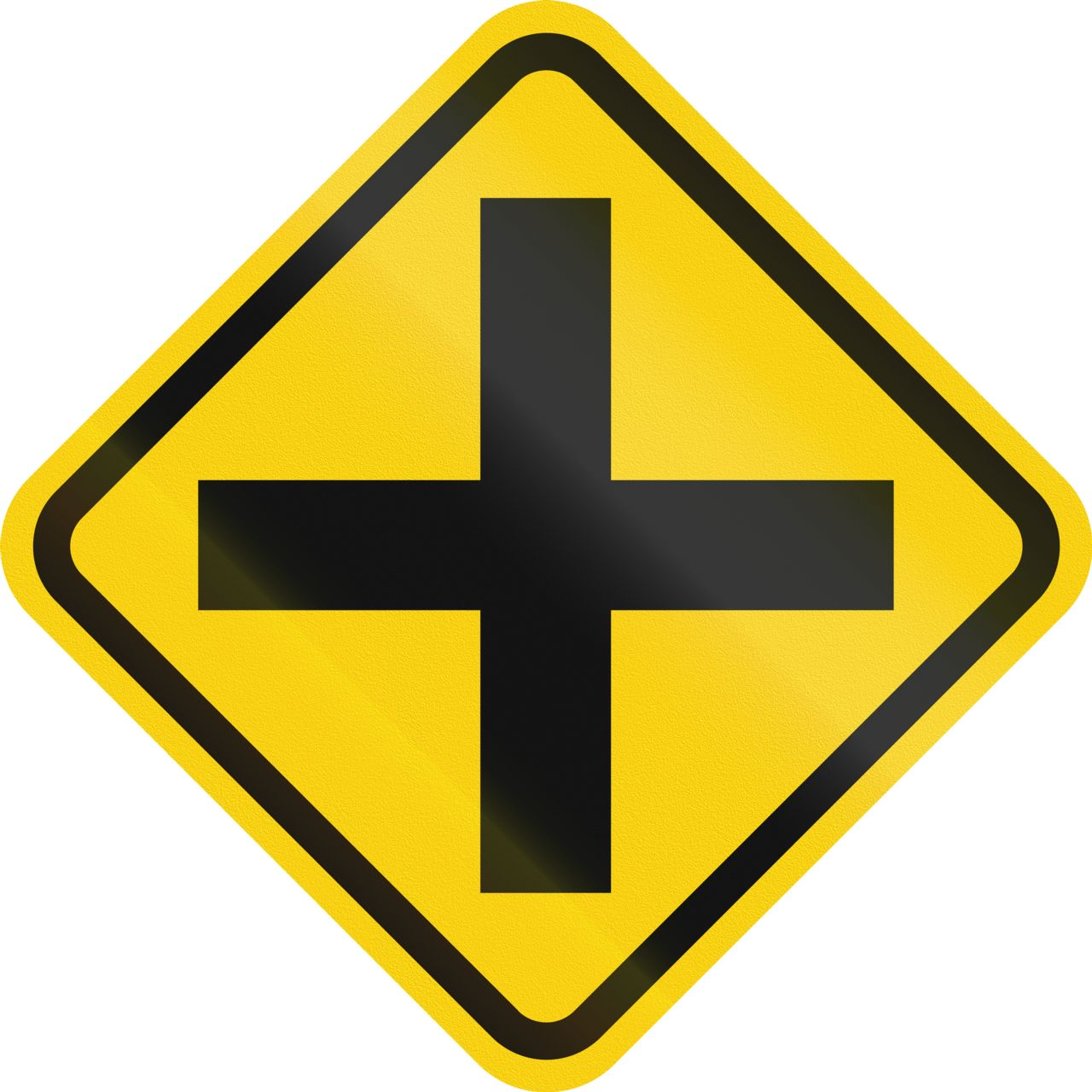 4-Way Intersection Street Sign