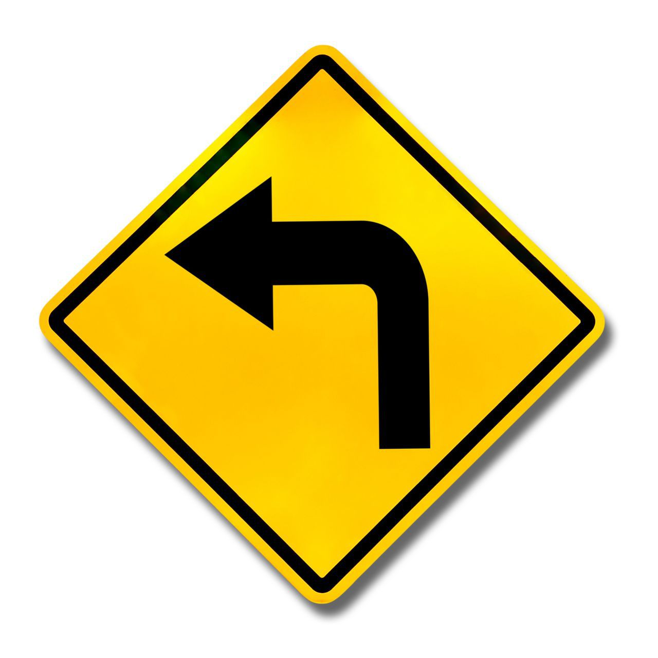 Left Turn Stree Sign