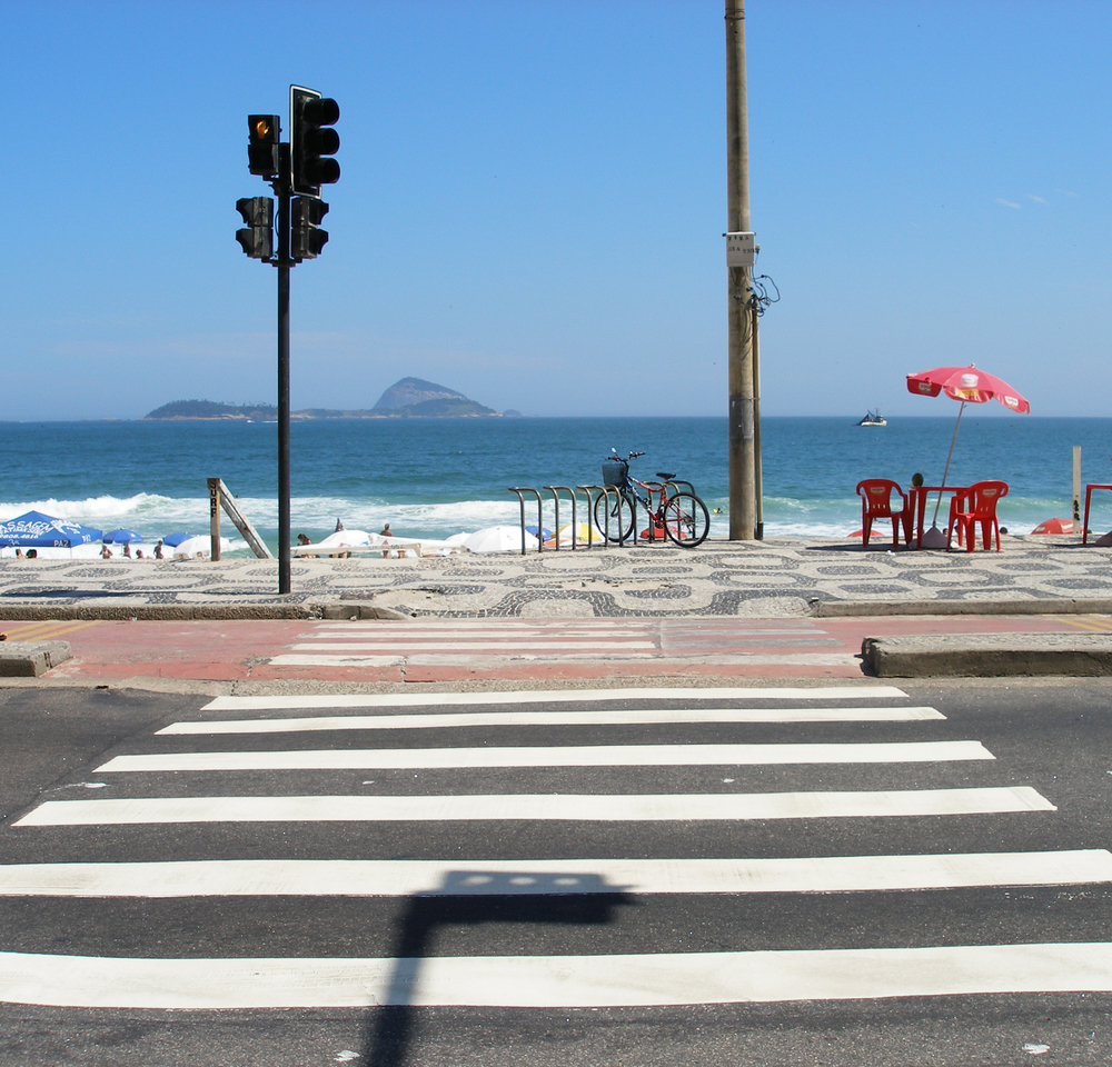 Crosswalk in Beach Area